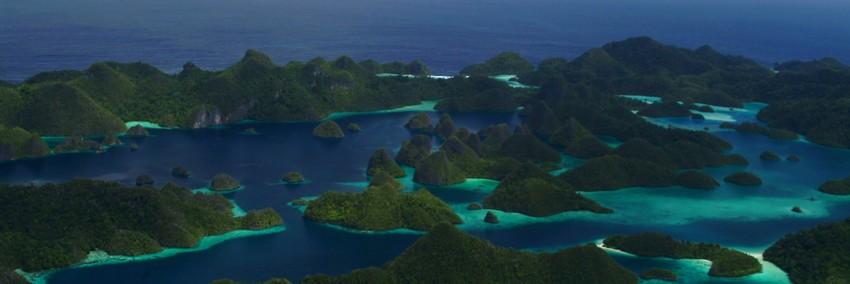La beauté époustouflante de   l'île Raja Ampa en Indonésie, idéale pour les amateurs de plongée.Raja Ampat fait partie de la province désormais appelée Papua Barat (Papouasie) (Crédit photo DR)