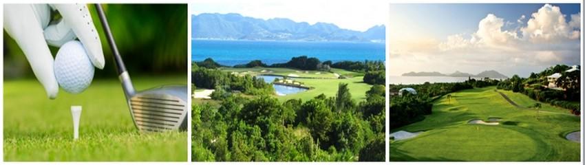 Lors des croisières les golfeurs amateurs auront la chance d'améliorer leur jeu lors des escales du Club Med 2 comme au CuisinArt Golf Club à Anguilla ou au Four Seasons à Nevis. © DR.