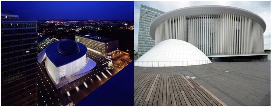La Philharmonie, la prouesse de l'architecte français Christian de Portzamparc inaugurée en 2005  ©  DR et  © David Raynal