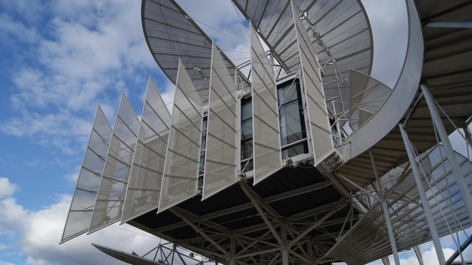 La Tour de la Liberté est installée dans le parc Jean-Mansuy à Saint-Dié-des-Vosges depuis 1990. Cet édifice futuriste symbolise la recherche de tous les peuples, la liberté.  © DR