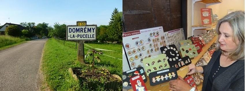Dans son village de Domrémy-La-Pucelle Christel Nex présente ses fèves fabriquées entièrement de manière artisanale. © Bertrand Munier