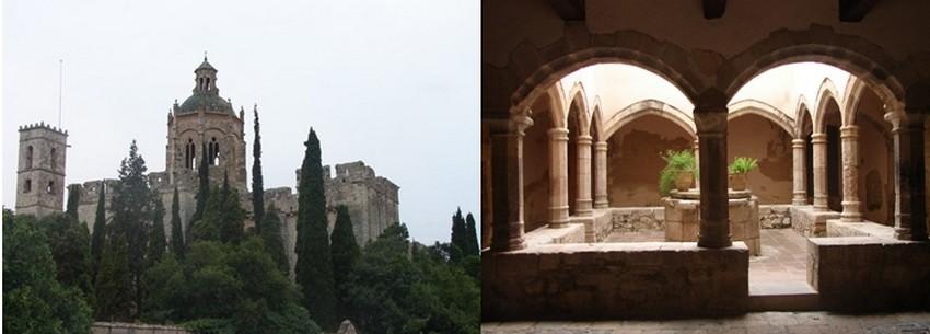 Santa Creus Le cloître roman enrichi de gothique est un joyau de dentelle dont les baies ogivales, les chapiteaux sculptés, la fontaine paléochrétienne invitent à la déambulation et à la paix. © Dulac