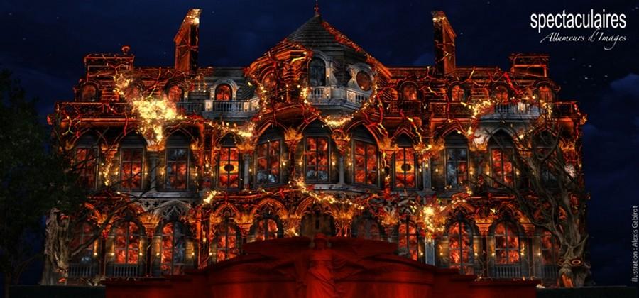 Dans le cadre  d'Epernay en Habits de Lumière : Rêve de dragon en mapping sur l'Hôtel de Ville.  © Ville d'Epernay.