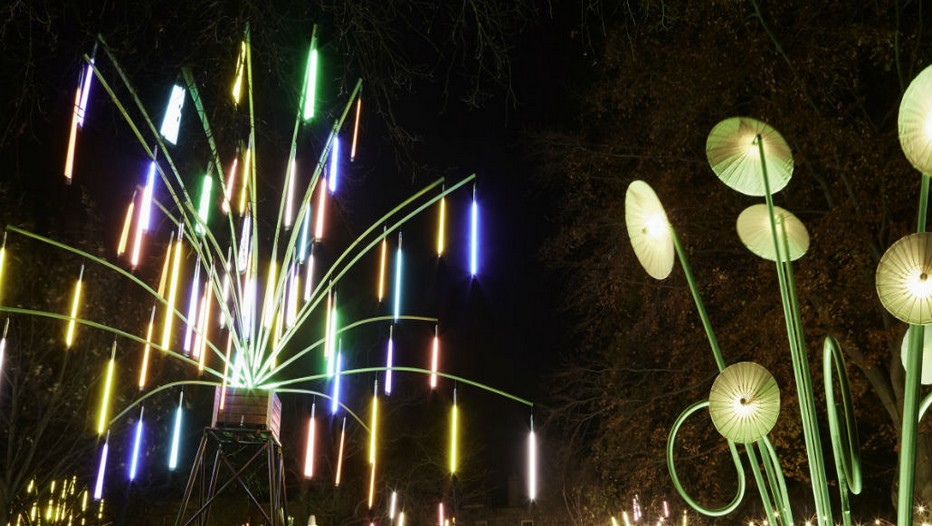 Garden of Light à Leicester Square – des plantes géantes illuminées, pour donner un accent tropical à la grisaille du mois de janvier. © Matthew Andrewws/www.visitlondon.com