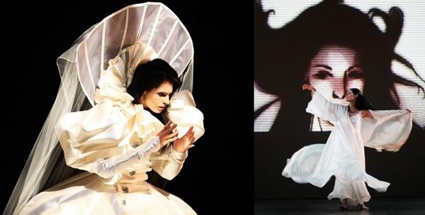 Avec leur compagnie le Théâtre du Corps, Marie-Claude Pietragalla et Julien Derrouault enchaînent les créations originales et inventives « Ivresse » en 2005, « Marco Polo » en 2008, « La Tentation d'Eve » en 2010. (Crédit photo  : Pascal Elliott)