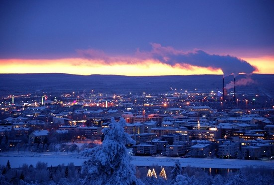 Le petit vllage de  Rovaniemi en Finlande © wikipedia-commons