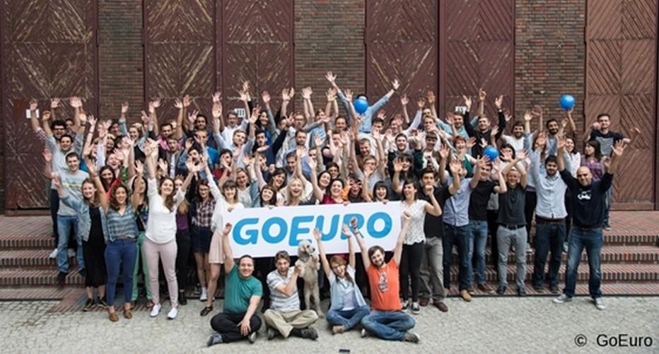 L'Equipe au complet de la nouvelle plateforme GoEuro. © GoEuro