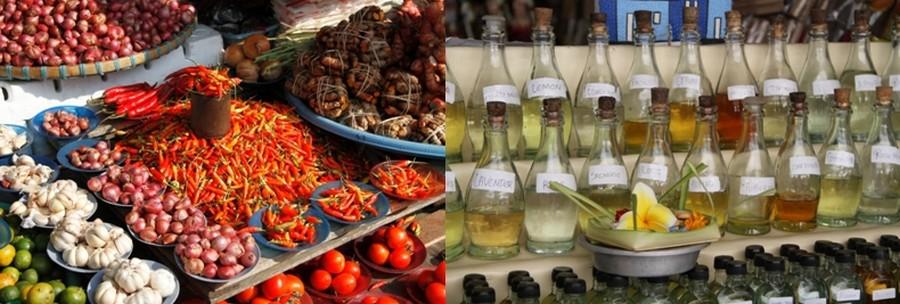 Des épices qui inspirent la cuisine Moluquoise locale. Du clou de girofle à la cannelle, en passant par le poivre, les piments, la vanille et les 4 muscades. © Loïck Ducrey
