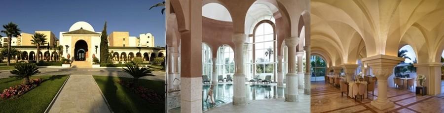 De gauche à droite : The Résidence Golf Tunis situé aux portes de Carthage, dont le golf a été dessiné par Ronald Trent © DR;  La Tunisie s'est très vite imposée comme une destination de premier plan pour la thalassothérapie et les spas. © DR