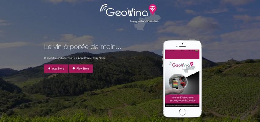 GeoVina, une application dédiée aux événements sur ces vins et à l'œnotourisme en région.  © www.géovina.com