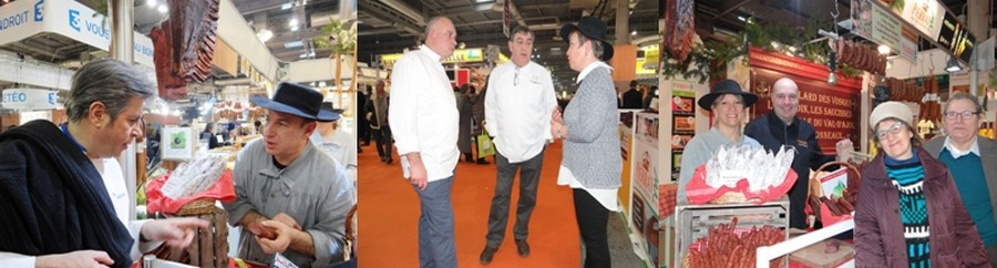 De nombreux grands chefs ont testé et approuvé les produits Pierrat à l'image de l'étoilé Michel Roth, de Philippe Lacroix (Lido à Paris) et de son second Aldo Bonasera ainsi que de Jacques Hildenbrand (brasserie Excelsior à Nancy) ©Bertrand Munier
