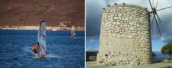 Sport nautique sur la plage d'Ilica; Çesme, un port ancien bien connu des ères Byzantine et Ottomane avec son château Génois du 14ème siècle. ©  explorealacati. All Rights Reserved