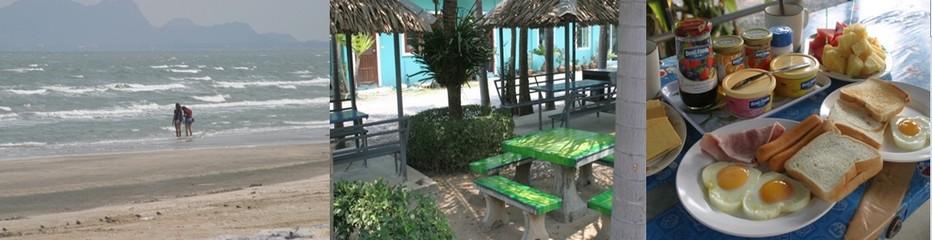 Une plage paradis des Kyte-surfs où les couleurs des voiles chatoient sur le bleu vert de ce Golfe de Thaïlande et pour remplir votre réfrigérateur, l'hôtel dispose d'une boutique qui vend à peu près tout… © Richard Bayon