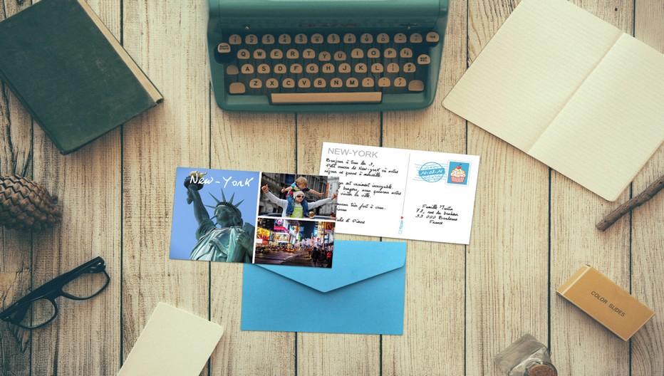 C'était avant, désormais on envoie une carte postale partout dans le monde à partir de son iphone ou sa tablette. (Copyright Fizzer.fr)