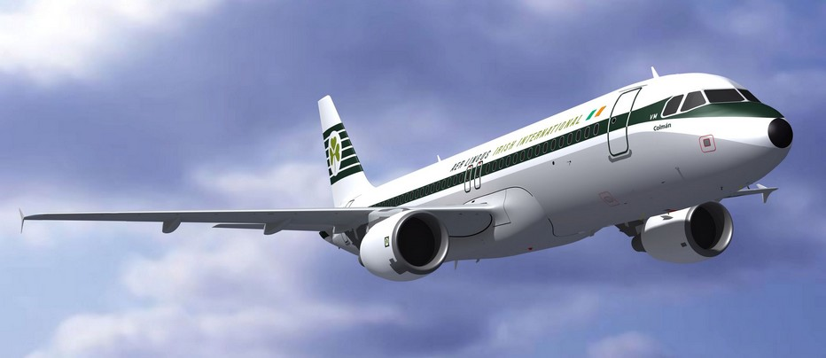 New Airbus A320 reg EI-DVM St Coleman in Aer Lingus Irish International livery. © Aer Lingus