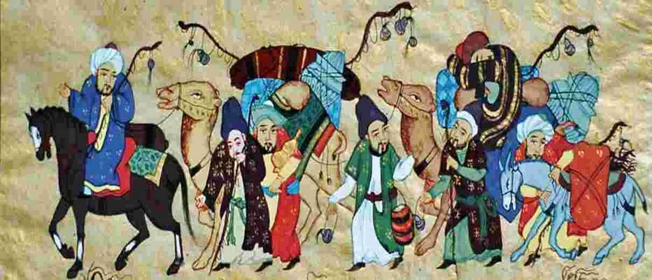 La route de la soie était un faisceau de pistes par lesquelles transitaient de nombreuses marchandises, et qui monopolisa les échanges Est-Ouest pendant des siècles. ©  DR.