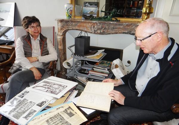 Christine Cleuvenot-Marion et son époux Maître Michel Marion sont fiers et à juste raison de conter le parcours d'Hubert Cleuvenot, leur père et beau-père. ©Bertrand Munier