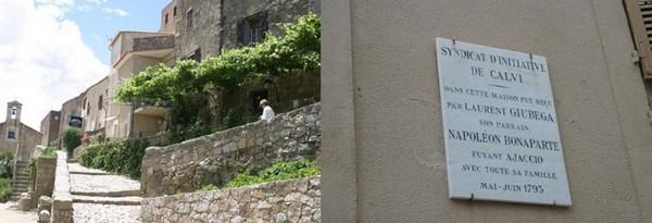 En Corse le charme des ruelles centenaires blotties les unes contre les autres à flanc de colline et en aplomb au-dessus de la mer;  © Richard Bayon.