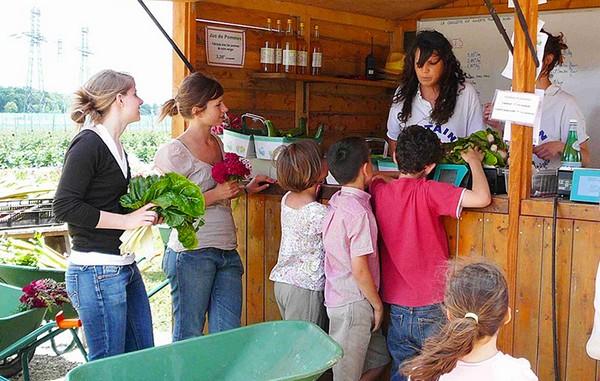 Plus de 150 saisonniers participent de mai à octobre à la vente de fleurs, fruits et légumes....  © www.chapeaudepaille.fr