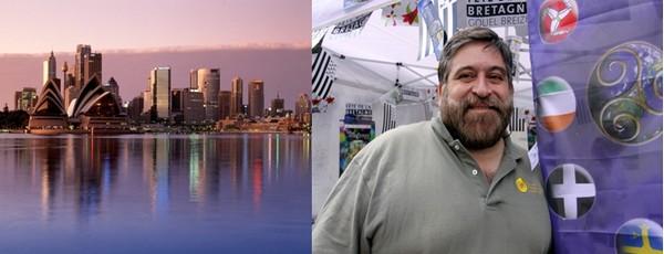 Vue sur Sydney (Australie) -© australie-a-la-carte.com; Lisardo Lombardia le directeur du Festival interceltique de Lorient.  © David Raynal