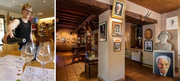 De gauche à droite : Dégustation Domaine Pierre Adam  © C.Gary ; Musée Albert Schweitzer  ©  OT Kayserberg