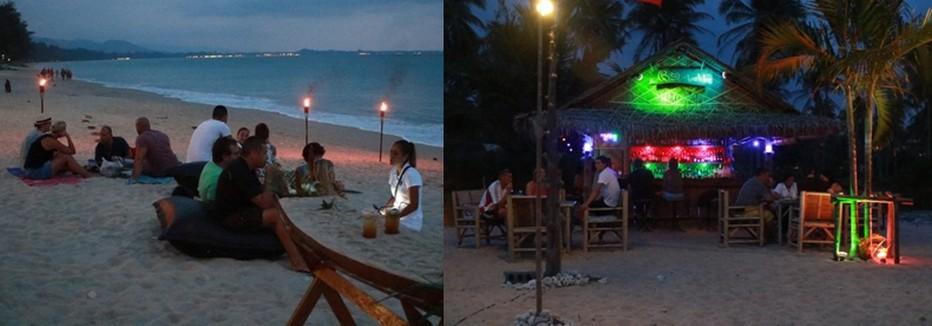 L'hôtel débouche sur une plage de près d'un kilomètre de long. C'est ici que sont organisées toutes les semaines une soirée cinéma, et une soirée White & tongs avec repas et cocktails sur le sable. © Patrick Cros