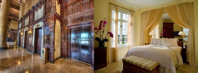 La Suite Merrick, au 15e étage, nommée en l'honneur du fondateur de l'hôtel, comprend trois chambres avec leur propre salle de bain, fenêtres plain-pied, deux balcons avec une vue imprenable sur Coral Gables et un ascenseur privé.  © The Biltmore