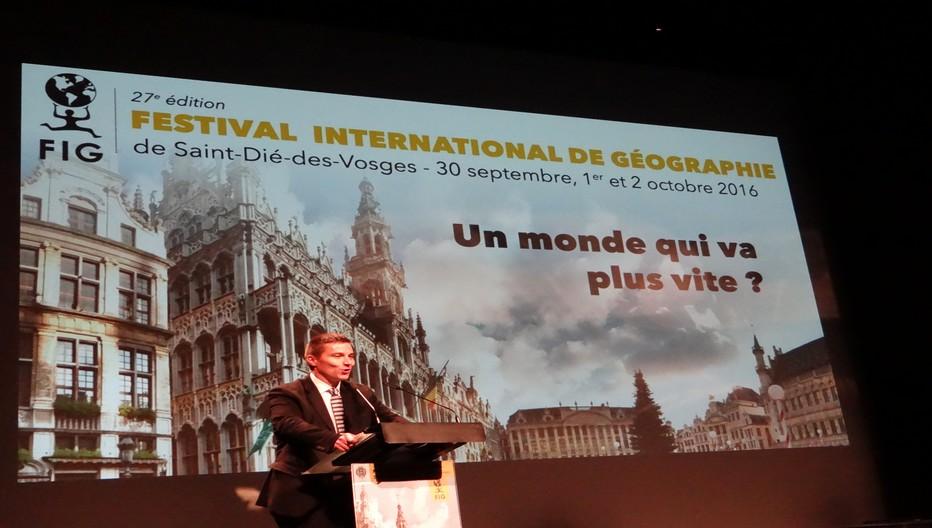 Séance inaugurale d'ouverture du FIG 2016 par David Valence, maire de la cité déodatienne. ©Bertrand Munier