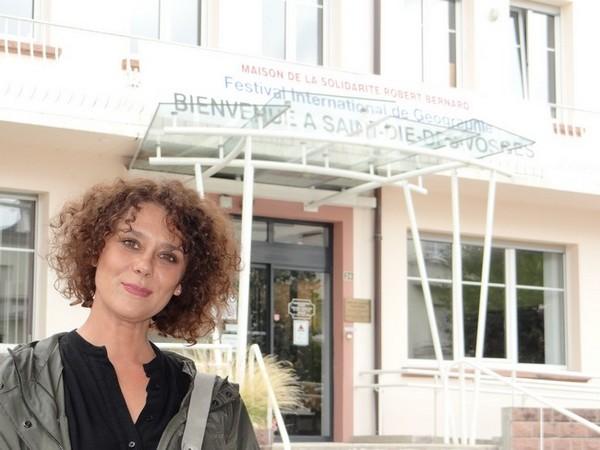 Une grande première au FIG et dans les Vosges  pour Marie-Laure Soriano, professeur d'histoire géographie dans le Gard. ©Bertrand Munier