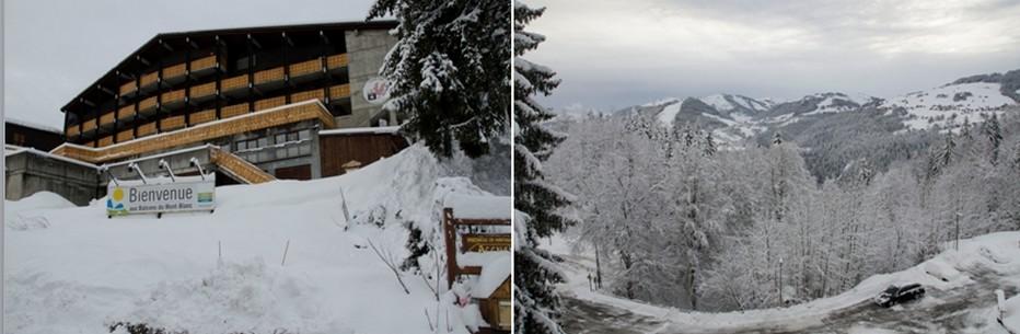 Les Balcons du Mont-Blanc (Savoie – Saint-Nicolas-la-Chapelle)  avec une  vue à 180° face au majestueux Mont-Blanc.  © David Raynal