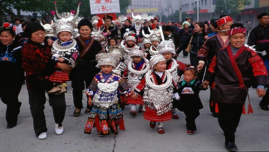 Des 56 minorités ethniques vivant en Chine, les Miaos sont parmi les plus nombreux. On en compte 10 millions dans le pays dont 4 millions vivent dans les montagnes du Guizhou.  © ONTC