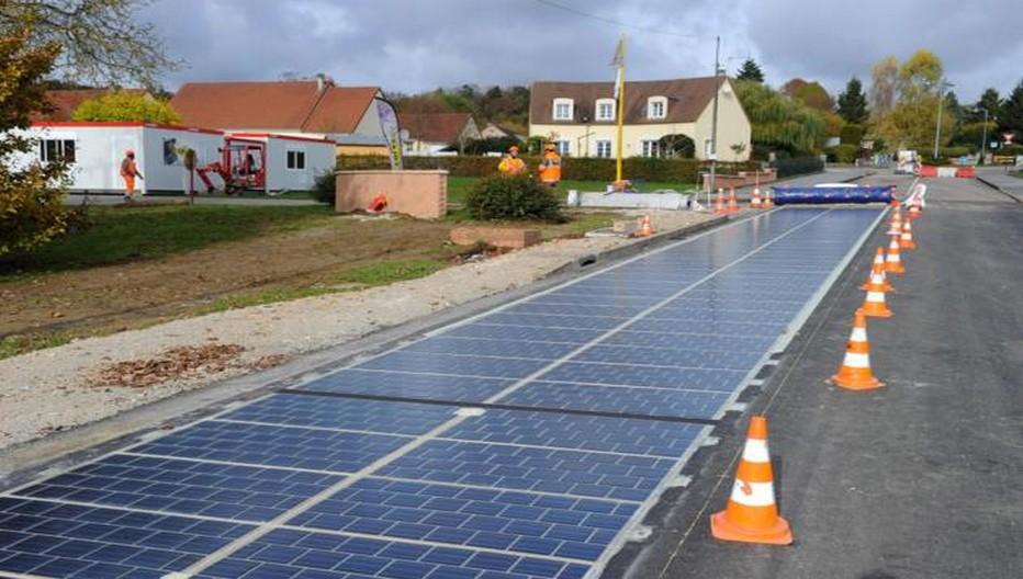 Lancement de la première route solaire en Normandie .Copyright OT Mortagne