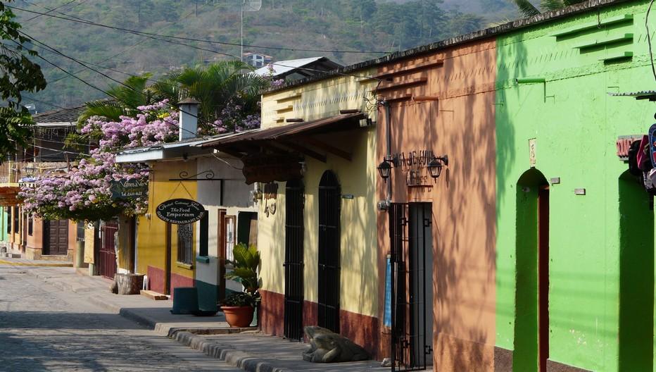 La petite ville coloniales de Copan Ruinas. A 1 km des ruines.  © Catherine Gary