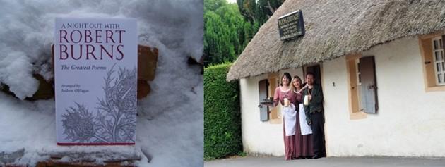 Robert Burns a dédié des centaines de vers aux femmes © DR ; Mauchline dans le cottage où Burns a vu le jour © www.visitscotland.com/fr