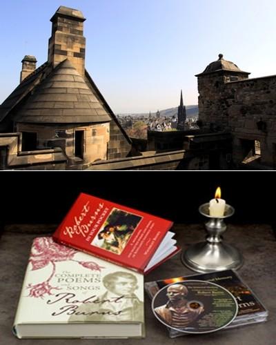 Vue sur les toits d'Edimbourg © David Raynal; Ce qu'il faut lire ou écouter des oeuvres de Robert Burns ©David Raynal et  DR.