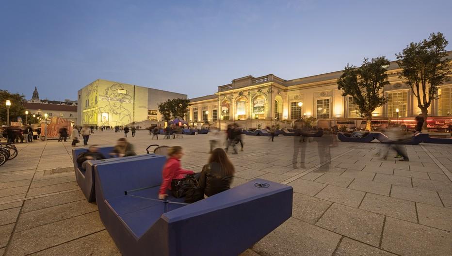 Quartier des musées à Vienne. © O.T. Vienne Christian Stemper
