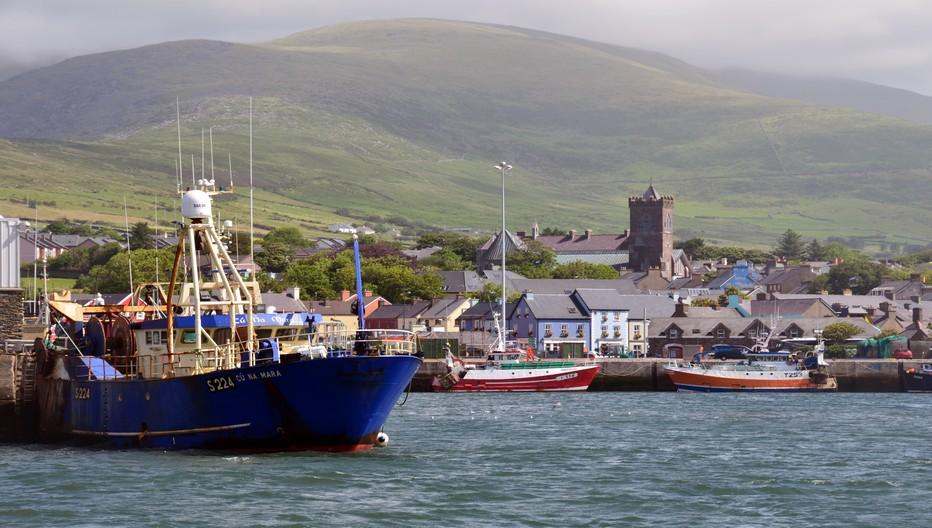 Dans le comté de Kerry au sud-ouest de la verte Erin, le port de Dingle est un haut lieu du tourisme irlandais.© David Raynal