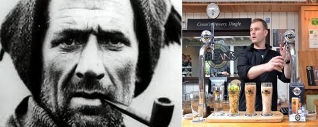 La bière emblématique de la brasserie, la Tom Crean's Irish lager, porte le nom d'un explorateur du pôle Sud héroïque originaire du village d'Annascaul. © D.R.© David Raynal