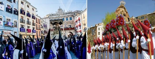 Les traditionnelles processions de la Semaine Sainte à Cuenca  se perpétuent depuis le XVIIè siècle© OT Cuenca