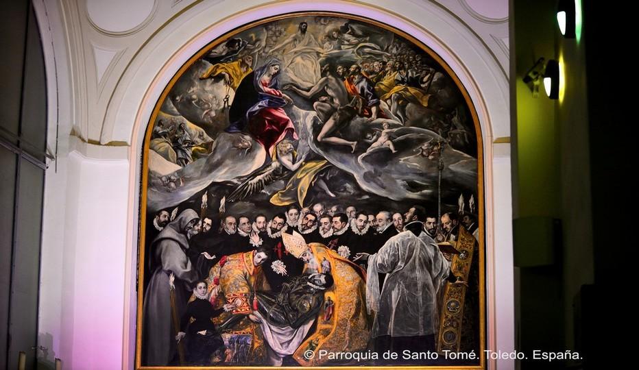 """A l'église de Santo Tomé le tableau """" L'Enterrement du comte d'Orgaz """" de Greco, un chef d'œuvre qui attire chaque année plus d'1 million de visiteurs…© Catherine Gary"""