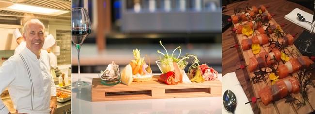 Le chef Pierre-Yves Lorgeoux, maître cuisinier de France, qui règne sur les trois cuisines en privilégiant les produits frais et de saison avec une part belle aux produits de la mer, et aux produits bio © hotel.thalasso-carnac.com/destination-hotel-les-salines.html