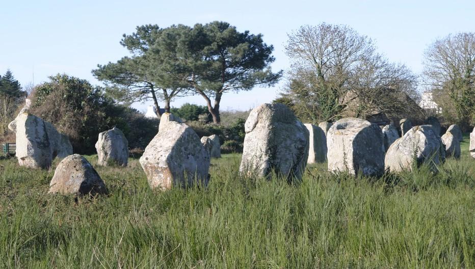 Carnac célèbre pour ses alignements de mégalithes. 4000 pierres levées vieilles de 7000 ans .©  Richard Bayon