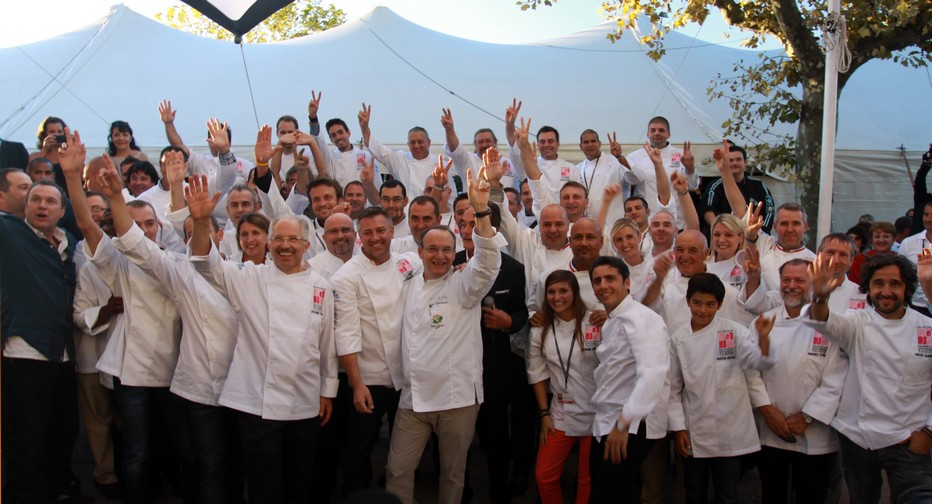 Photo des Chefs lors de la 11ème édition du Festival international de la Gastronomie à Mougins © David Raynal