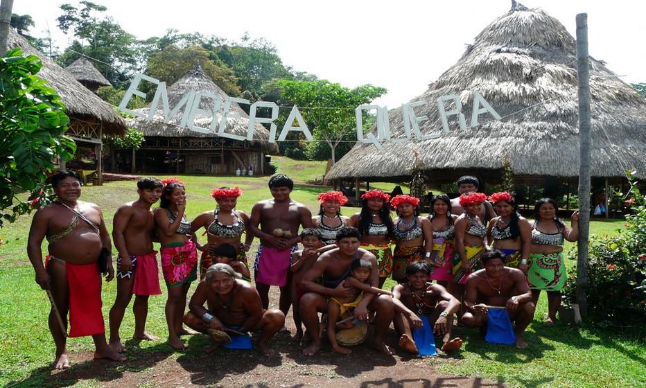 village des Embera Quera, une communauté indienne très accueillante © C.Gary