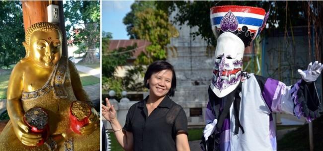 Le premier jour du festival  les habitants de la ville demandent la protection de Phra U-Pakut, l'esprit de la rivière Mun, en défilant dans les rues avec une statue de Bouddha qui a le pouvoir de faire venir en abondance les précipitations.© David Raynal