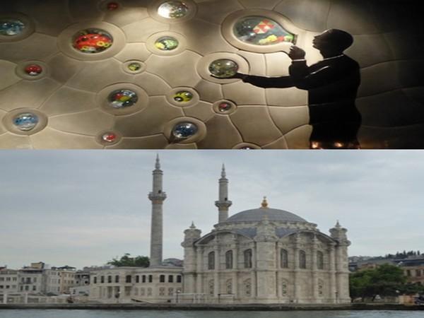 En haut : Yakup2 Restaurant avec les portraits d'Atatürk et de célébrités locales aux murs dans la salle; Balade sur le Bosphore pour les palais somptueux et les maisons traditionnelles bâtis sur les deux rives. © C.Gary