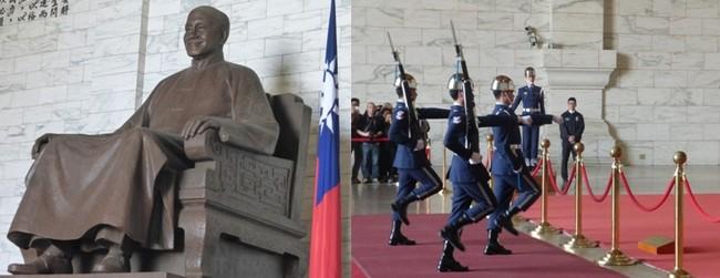 Le hall de style Ming accueille la statue du timonier en bronze de 25 tonnes. On n'y manque surtout pas à chaque heure, la relève de la garde au pas cadencé. © C.Gary