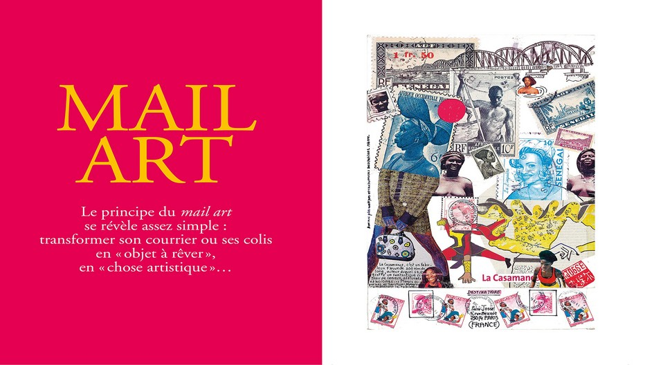 En marge de ses voyages, Pierre Josse, le rédacteur en chef des Guides du Routard confectionne des enveloppes et des cartes postales réalisées dans l'esprit du mail art. Crédit photo D.R.