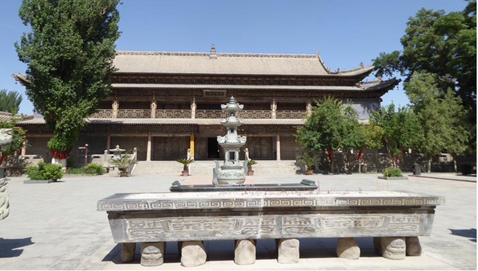 le temple du grand bouddha couché Sakyamuni. © Catherine Gary