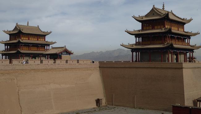 le fort de Jiayugan, érigé au XIVè siècle, reconstruit par la suite,© Catherine Gary